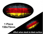 Fade To Black OVAL Design & Germany German Flag Vinyl Car sticker decal 150x75mm